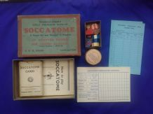 Collectible Vintage football cards game Soccatome by Dixon's
